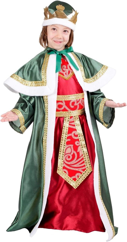 Disfraz de Rey Mago Gaspar para niños: Amazon.es: Juguetes y juegos