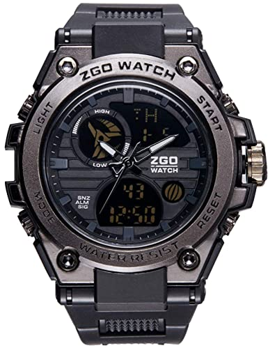 Relojes Hombres Negro Reloj Deportivo Impermeable Multifunción para Hombre Cronógrafo Alarma Día Fecha Calendario LED Tendencia Casual Diseño Resistente ...
