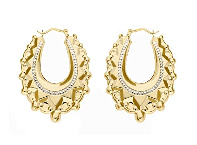 Adara 9 ct Yellow Gold Creole Earrings wKS3142ZSx
