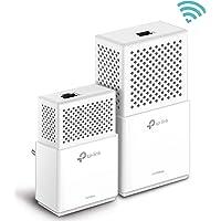 TP-Link CPL 1000 Mbps Wi-Fi Bi-Bande 750 Mbps avec 1 Port Ethernet Gigabit, Kit de 2 - Solution idéale pour profiter du service Multi-TV à la maison (TL-WPA7510 KIT)