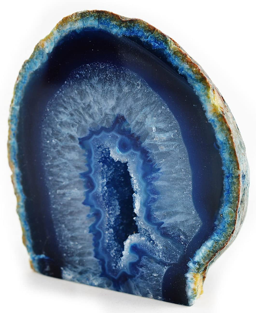 Fossil Gift Shop 2-3 Agate Geode Blue