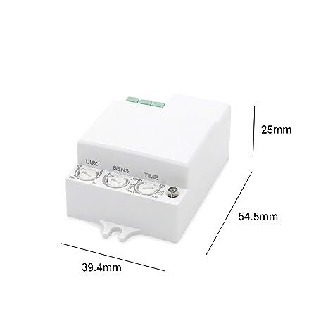 Popp Detector Movimiento por MICROONDAS. Blanco