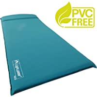 Lightspeed Outdoors Unisex XL Super Plush FlexForm Self-Inflating Sleep and Camp Pad, Teal