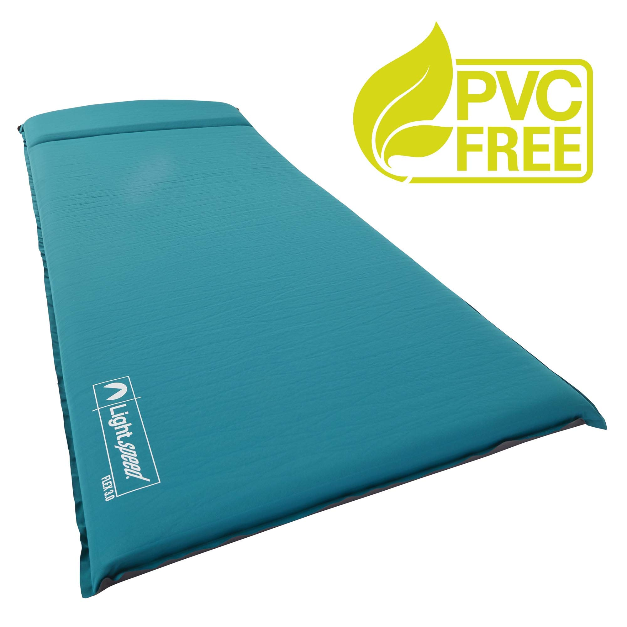 Lightspeed Outdoors XL Super Plush FlexForm Self-Inflating Sleep and Camp Pad, Teal by Lightspeed Outdoors