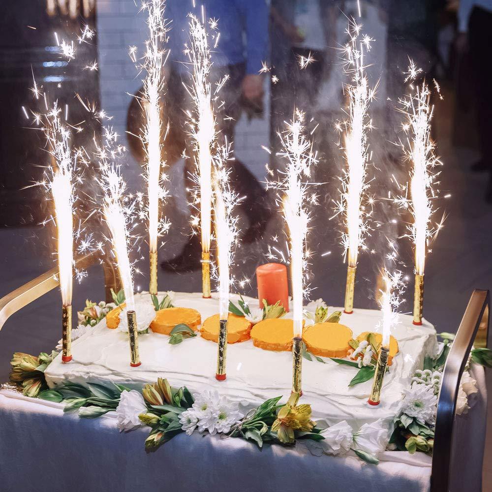 cumplea/ños Estrellas m/ágicas para Compromiso Fuente para Tarta Fiesta Juvenil Estrellas de Hielo Boda ni/ños Fuego de Mesa y como decoraci/ón para Tartas y Tartas en Oro vama