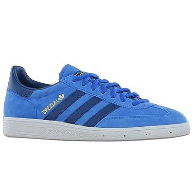 70c219a90f0607 Image Unavailable. Image not available for. Color  adidas Originals Unisex  Spezial Bluebird Tribe Blue White Men s ...