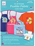 June Tailor Fusible Fabric Ink Jet Printable Cotton Sheets, 8-1/2 by 11-Inch, 3-Pack