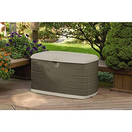 Rubbermaid 73 gal. Patio Storage Bench, Olive Green and Sandstone - Amazon.com: Rubbermaid 73 Gal. Patio Storage Bench, Olive Green And