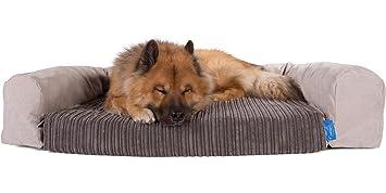 Silentnight lujo Pocket Sprung cama para perro & – Set de cojín Cord Grafito