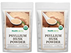 Healthworks Psyllium Husk Powder (16 Ounces / 3 Pound) | Raw | Certified Organic | Finely Ground Powder from India | Keto, Vegan & Non-GMO | Fiber Support