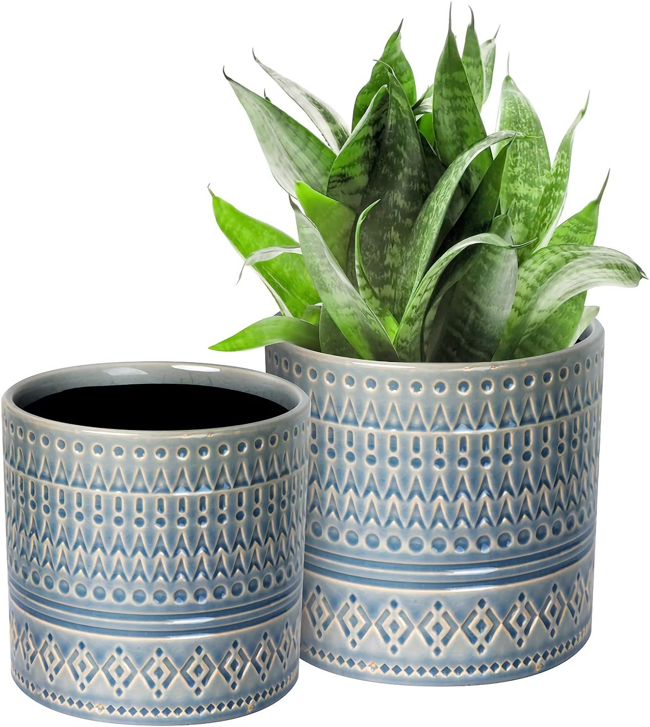 Voeveca Ceramic Flower Pot Garden Planters 6.9