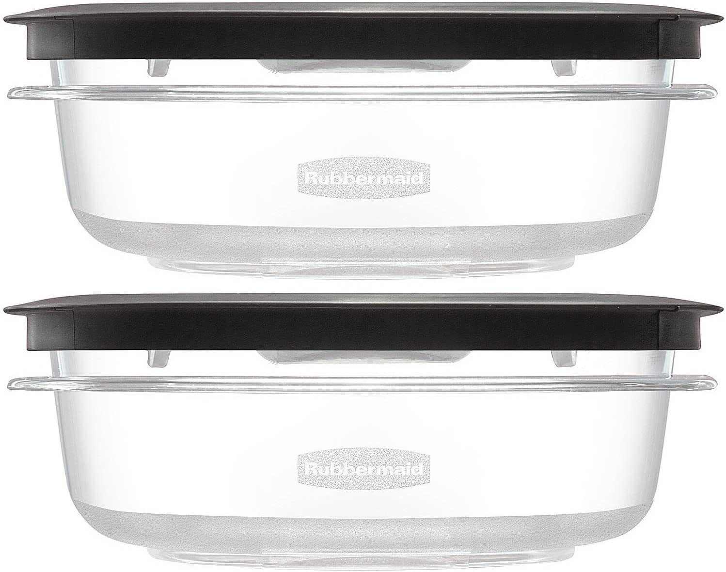 Rubbermaid Premier Food Storage Container, Grey, 3-Cups (Pack of 2)