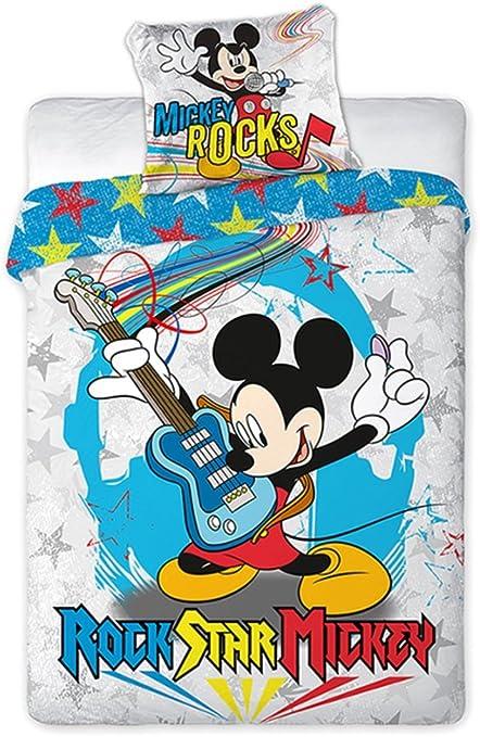 Copripiumino Topolino.Set Copripiumino E Federa Mickey Mouse Topolino 160x200 Prodotto