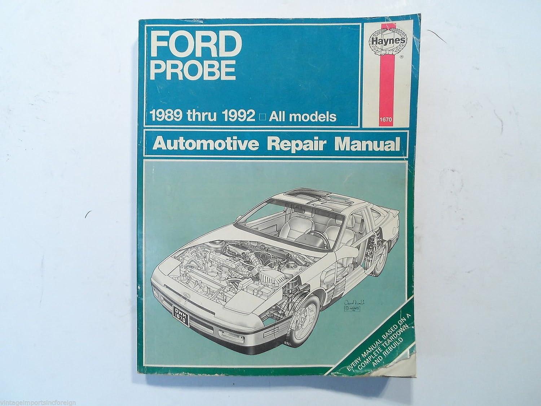 Amazon.com: Ford Probe 1989-1992 New Haynes Brand Auto Repair Manual 1670:  Automotive