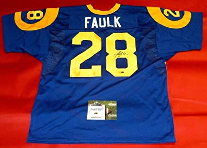 56e7024cd MARSHALL FAULK AUTOGRAPHED ST. LOUIS RAMS JERSEY AASH HOF at ...