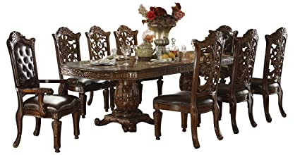 Bon ACME Vendome Casual Dining Room Set With Dining Table, 6 X Side Chair And 2