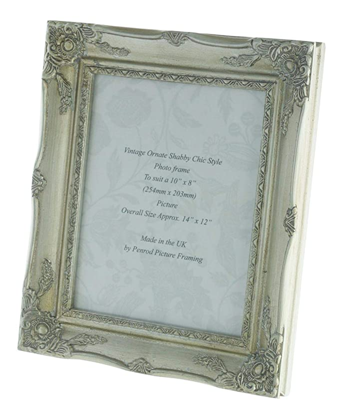 Antique Silver Shabby Chic Ornate Swept Vintage Picture Frame For a ...