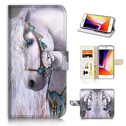 Amazon.com: AD001 - Funda tipo cartera para iPhone 8 y ...
