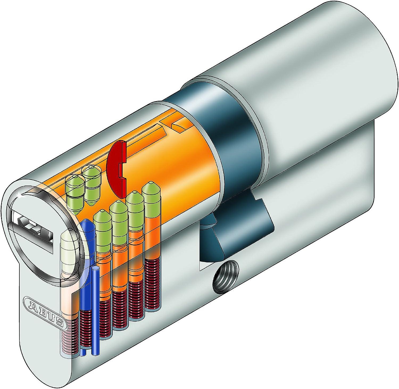 Nickel/é Mat ABUS EC-SNP 30//50 Cylindre D/ébrayable pour Portes Ext/érieures//Entr/ées dappartement 30//50 mm