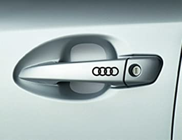 X AUDI Car Door Handle Decals Stickers A A A Quattro Premium - Car window stickers amazon uk