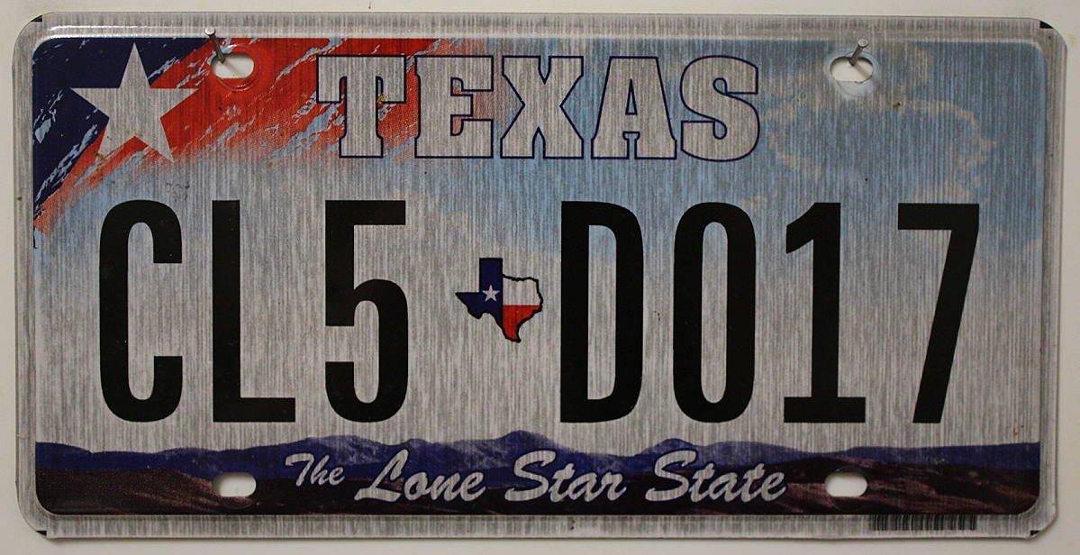 USA Nummernschild TEXAS ~ US Kennzeichen LONE STAR STATE ~ Blechschild