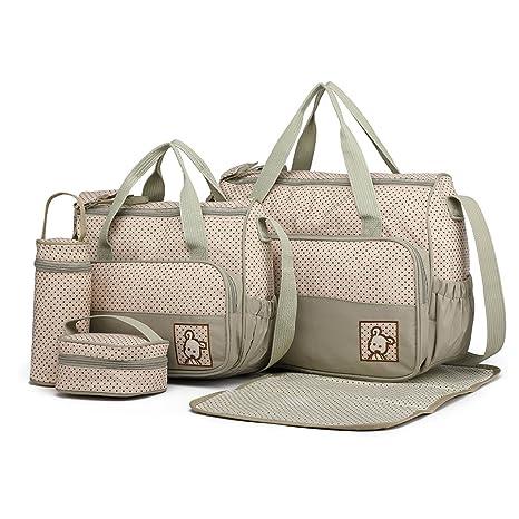 5edeadf4f Miss Lulu 5 pcs Bébé Ensemble de sacs à langer de multifonction Diaper  Messenger hôpital Maternité