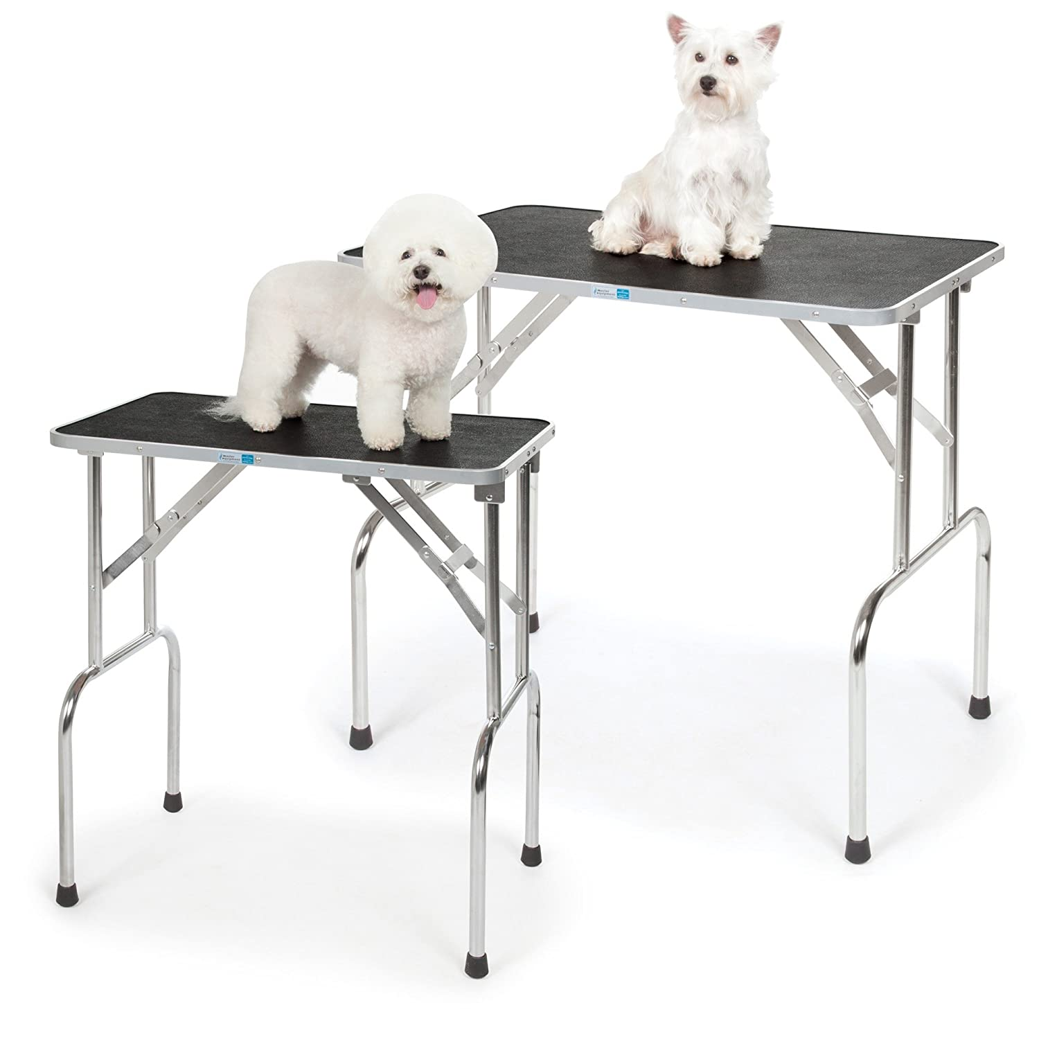 30-Inch Master Equipment Superior Stainless Steel Folding Dog Grooming Table, 30 , Black