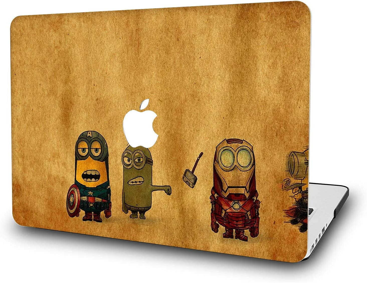"""MacBook Air 11 Inch Case - L2W Laptop Accessories Hard Plastic Printed Cover for Apple Mac Air 11.6"""" with Two USB 3 Ports, Model: A1465/A1370, Protection Shell of Design Minions"""