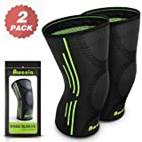 Awenia Knee Support, Compression Knee Sleeves,Knee Brace Patella Stabilizer, for Joint Pain Relief Arthritis and Injury Recovery,Sports Knee Support ideal for Adult or Kids,Pair or Single