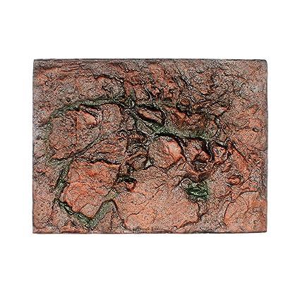 Amazon.com : Gbell Aquarium 3D Foam Rock Reptile Stone Decor Cuttable Aquarium Background Backdrop Fish Tank Board Decor, 1Pcs : Pet Supplies