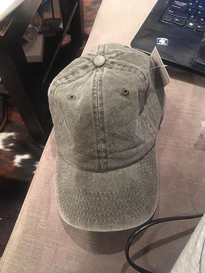 THE HAT DEPOT 100% Cotton Pigment Dyed Low Profile Six Panel Cap Hat Good color, a little square design