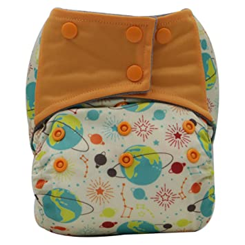 A10 AIO Reusable Washable Cloth Diaper Nappy Charcoal Bamboo Insert Overnight