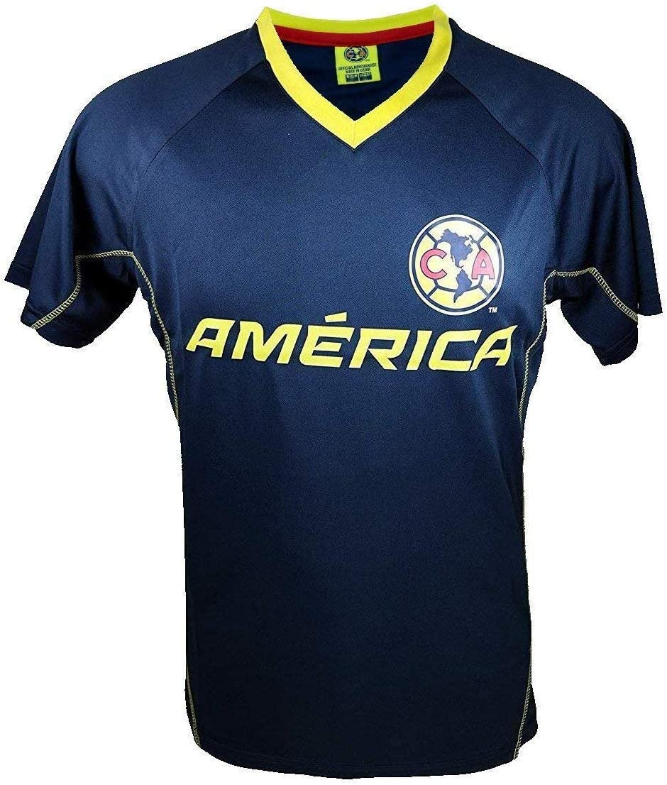 RhinoxGroup Adult Club America Official Soccer Poly Jersey Shirt 006
