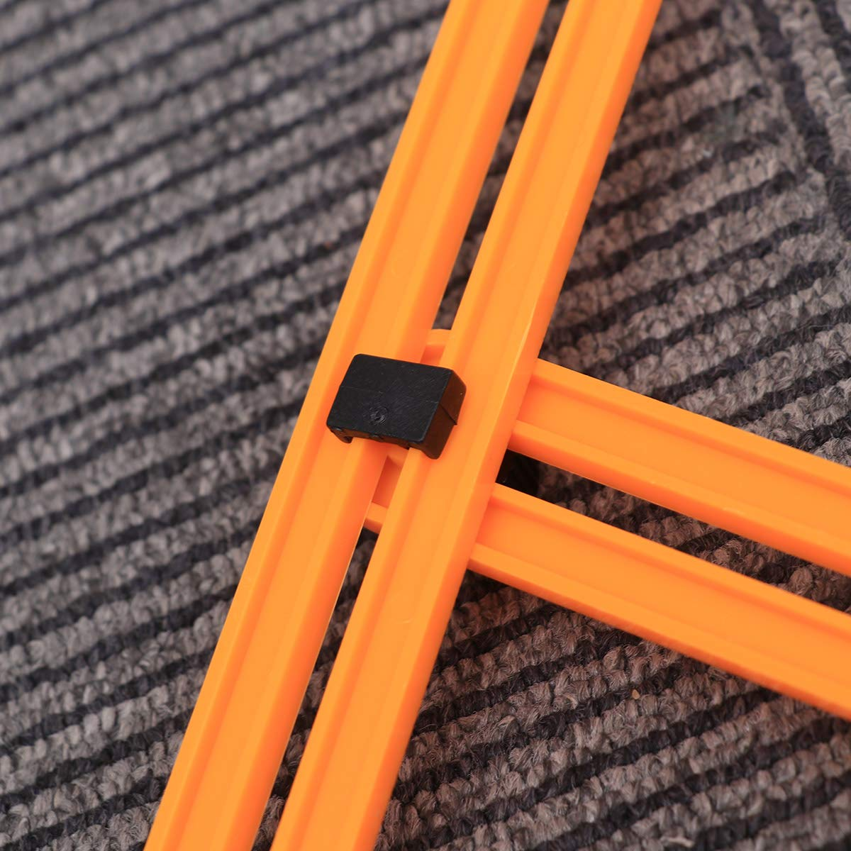 Orange Yardwe Multi Angle Measuring Ruler Multifunctional Folding Ruler Industry Measuring Tool for Carpenters Builders