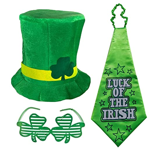 3 unids St Patricks Day Lucky Green Charm Costume Accesorios ...