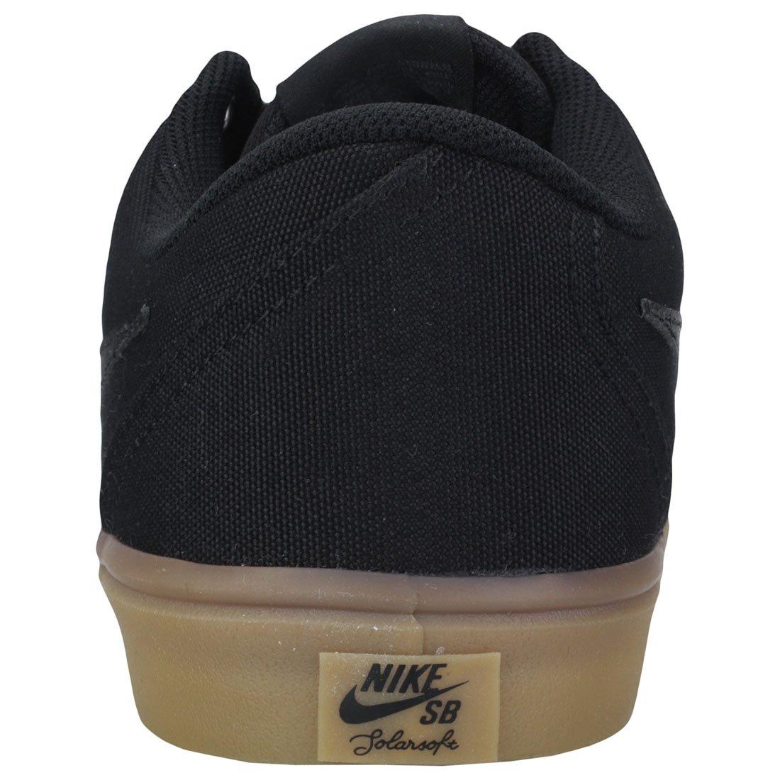 Nike Men's SB Check Solarsoft Canvas Skateboarding Shoes Black/Black-Gum Light Brown 10 by Nike (Image #4)