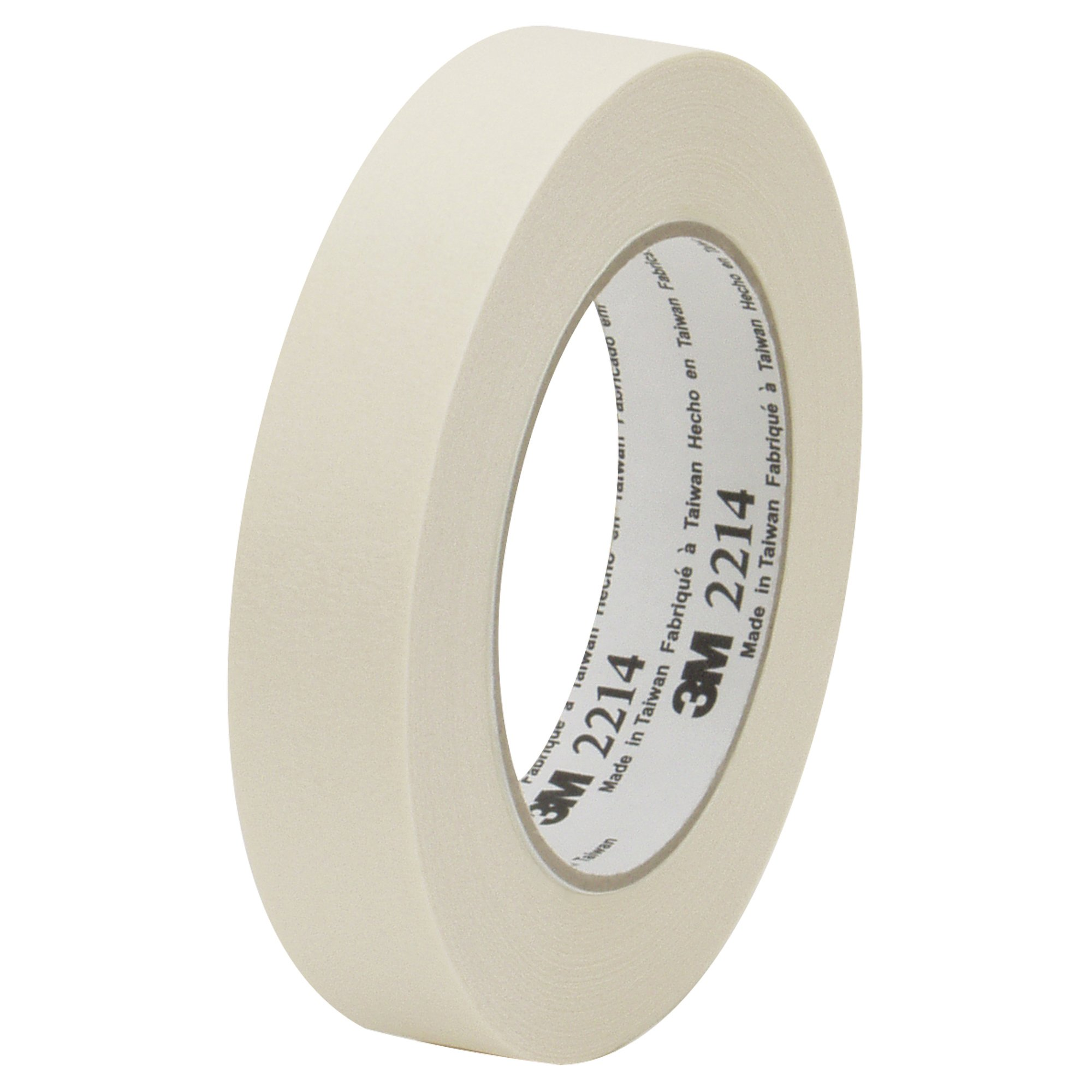 Top Pack Supply 3M 2214 Masking Tape, 5.2 Mil, 2'' x 60 yds. Natural (Case of 12)