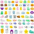 YIHONG 72 Pcs Kawaii Squishies, Mochi Squishy Toys for Kids Party Favors,Mini Stress Relief Toys for Easter Party Favors,Birt