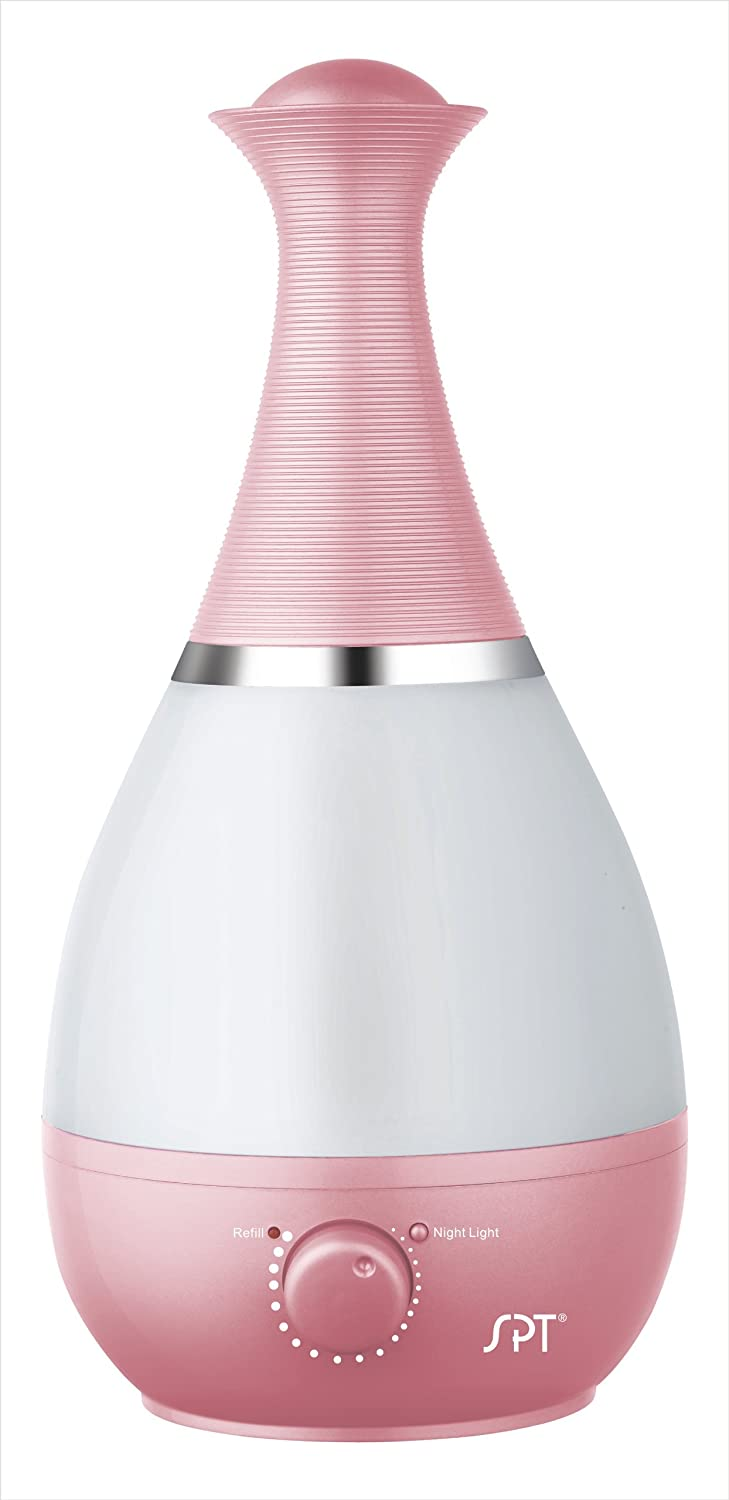 Ultrasonic Humidifier with Frangrance Diffuser and Night Light (Pink)