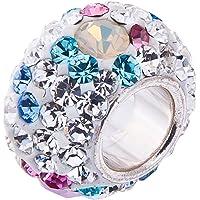 Opale et cristal Swarovski Charms - Argent 925. Pour Pandora et bracelets europŽens 3mm. BOITE CADEAU