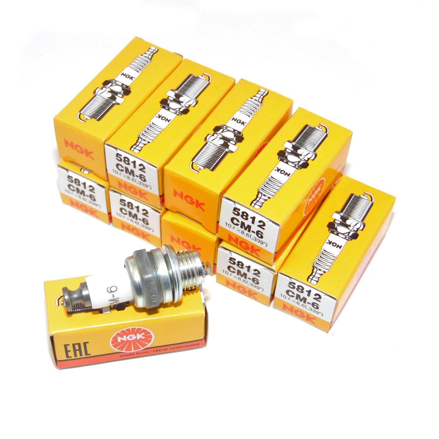 5812 CM6 CM-6 Spark plugs (10pk)