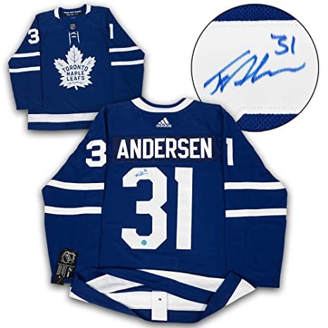 Frederik Andersen Toronto Maple Leafs Autographed Adidas Authentic Hockey  Jersey 0a7741e3c