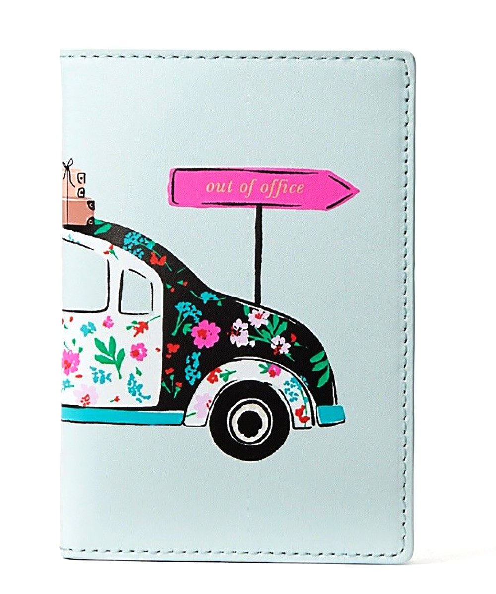 Kate Spade Imogene Leather Passport Holder Case Out Of Office Multi, Blue by Kate Spade New York