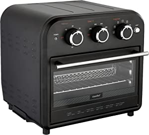 Comfee' Air Fryer Toaster Oven, 4 Slice, 7 Cooking Functions, 1250W, Black, Perfect for Countertop (CO-A101A(BK))