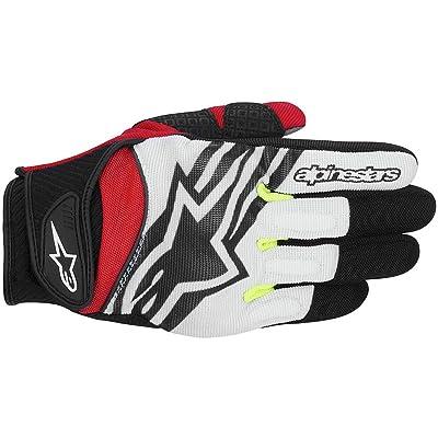 Alpinestars Spartan Gloves (Medium) (Black/White/Yellow/RED): Automotive