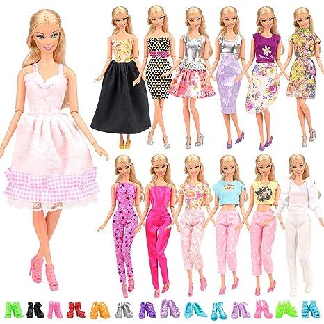 6edadafa99a5 Miunana 15 Pezzi   5 PCS Fatti A Mano Principessa Abiti Vestiti Alla Moda  Fashion +