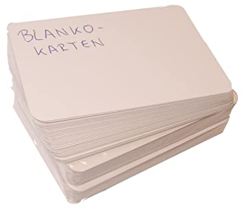 8er-Set tarjetas en blanco, sin 36 unidades: Amazon.es ...