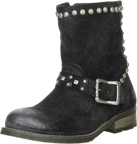 022680621eb0 ONLINE SHOES Damen Stiefeletten Echtleder schwarz, Größe 36, Farbe Schwarz