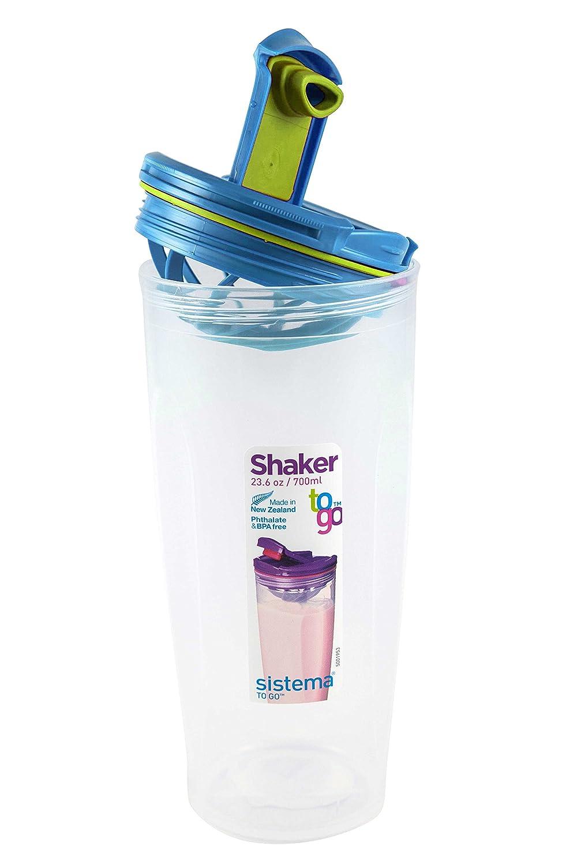 Sistema 23.6OZ 700ML Shaker To Go Blue