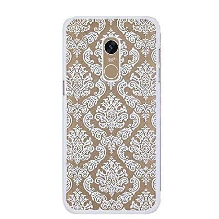 KC Crystals Auora Flower Semi Hard Transparent Back Cover for Mi Redmi Note 4  White